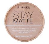 Rimmel Matující kompaktní pudr Stay Matte 14 g Odstín 009 Amber pro ženy