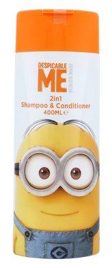 Minions Hair Care Šampon 2in1 Shampoo & Conditioner 400 ml pro děti