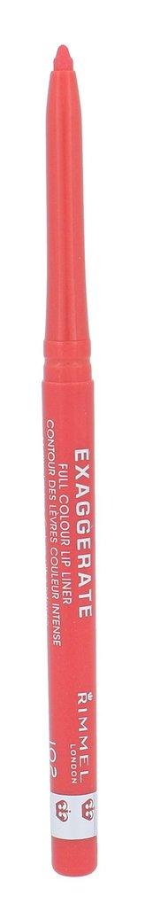 Rimmel Konturovací tužka na rty Exaggerate (Lip Liner) 0,25 g Odstín 102 Peachy - Beachy pro ženy