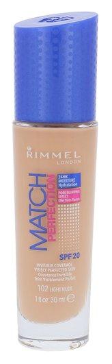 Rimmel London Match Perfection Makeup SPF20 30 ml 102 Light Nude pro ženy