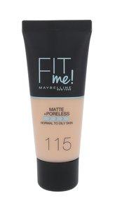 Maybelline Sjednocující make-up s matujícím efektem Fit Me! (Matte & Poreless Make-Up) 30 ml Odstín 115 Ivory pro ženy