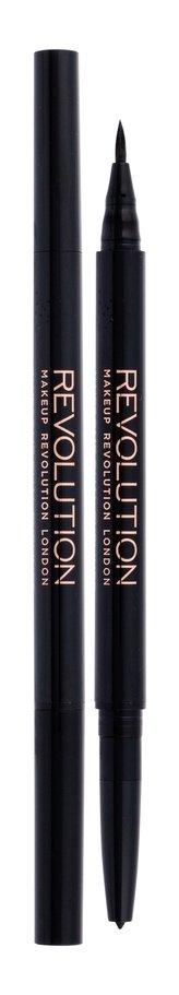 Makeup Revolution London Awesome Dual Eyeliner Oční linka Felt & Kohl 0,18 g Black pro ženy
