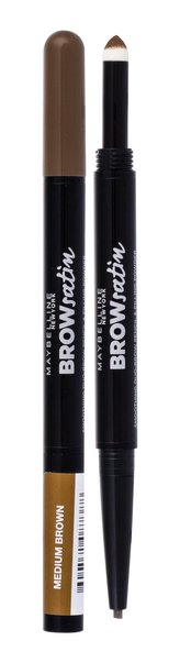 Maybelline Brow Satin Tužka na obočí 0,71 g Medium Brown pro ženy