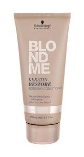 Schwarzkopf Professional Obnovující keratinový kondicionér pro blonďaté vlasy BLONDME (Keratin Restore Bonding Conditioner) 200 ml pro ženy