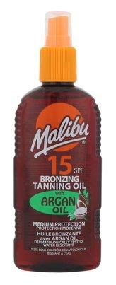 Malibu Bronzing Tanning Oil Opalovací přípravek na tělo Argan Oil 200 ml SPF15 pro ženy