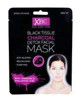 Xpel Body Care Pleťová maska Black Tissue Charcoal Detox Facial Mask 28 ml pro ženy