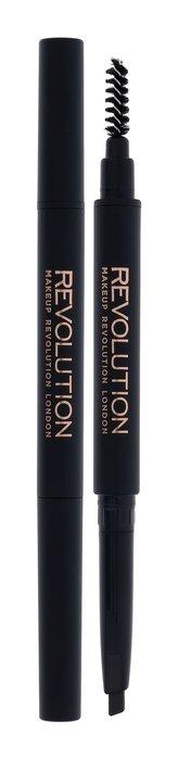 Makeup Revolution London Duo Brow Definer Tužka na obočí 0,15 g Dark Brown pro ženy