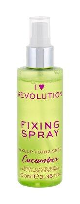 Makeup Revolution London I Heart Revolution Fixátor makeupu Fixing Spray 100 ml Cucumber pro ženy