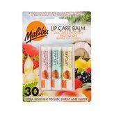 Malibu Lip Care balzám na rty 4 g Watermelon + balzám na rty 4 g Mint + balzám na rty 4 g Vanilla