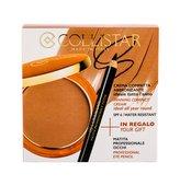 Collistar Tanning Compact Cream krémový pudr 9 g + tužka na oči 0,80 g