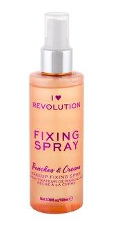 Revolution Fixační sprej make-upu broskve a šlehačka (Peaches & Cream Fixing Spray) 100 ml woman