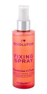 Revolution Fixační sprej make-upu jahody a smetana (Strawberries & Cream Fixing Cream) 100 ml woman