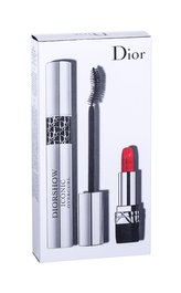 Christian Dior Diorshow Iconic Overcurl řasenka 10 ml + rtěnka Mini Rouge 999 1,5 g