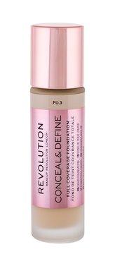 Makeup Revolution London Conceal & Define Makeup 23 ml F0,3 pro ženy