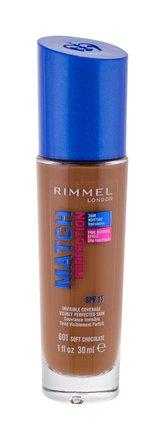 Rimmel London Match Perfection Makeup 30 ml 601 Soft Chocolate SPF15 pro ženy