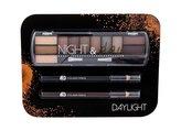 2K Night & Day paletka očních stínů 8,16 g + tužka na oči 0,6 g Black + tužka na oči 0,6 g Brown