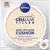 Nivea Hyaluron CELLular Filler Makeup 3in1 Care Cushion 15 g 03 Dark SPF15 pro ženy