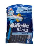 Gillette Blue3 Holicí strojek Smooth 8 ks pro muže