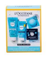 L´Occitane Aqua Réotier denní pleťová péče 20 ml + čisticí gel 40 ml + pleťová maska 2 x 6 ml
