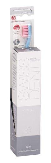 Swissdent Gentle bělicí zubní pasta 50 ml + zubní kartáček Profi Gentle Extra Soft 1 ks Light Blue