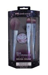 Real Techniques Brush Crush Volume 2 kosmetický štětec na pudr 1 ks + houbička na make-up 1 ks + kosmetický štětec na oční stíny 1 ks + kosmetický štětec pro blending 1 ks