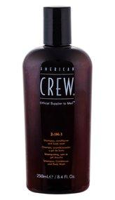 American Crew Multifunkční přípravek na vlasy a tělo (3-in-1 Shampoo, Conditioner And Body Wash) Objem 250 ml pro muže