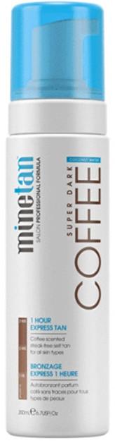Minetan Samoopalovací pěna pro tmavé opálení Coffee Coconut Water (Super Dark 1 Hour Express Tan) 200 ml pro ženy