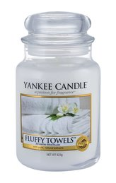 Yankee Candle Fluffy Towels Candle ( načechrané ručníky ) - Vonná svíčka 623. ml pro ženy