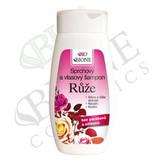 Bione Cosmetics Sprchový a vlasový šampon Růže 260 ml woman
