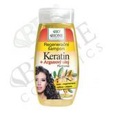 Bione Cosmetics Regenerační šampon Keratin + Arganový olej s panthenolem 260 ml woman