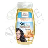 Bione Cosmetics Regenerační šampon Keratin + Vitamínový olej z obilných klíčků 260 ml woman