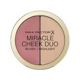 Max Factor Tvářenka a rozjasňovač Miracle Cheek Duo (Blush & Highlight) 11 g Odstín 20 Brown Peach & Champagne woman
