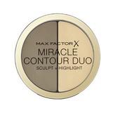 Max Factor Krémový bronzer a rozjasňovač Miracle Contour Duo (Sculpt + Highlight) 8 g Odstín Light/Medium woman