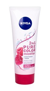 Nivea Micelární kondicionér a kúra na vlasy 2v1 Pure Color (Micellar Conditioner + Mask) 200 ml woman