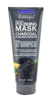 Freeman Peelingová maska s uhlím a cukrem (Facial Polishing Mask Charcoal & Black Sugar) Objem 175 ml pro ženy